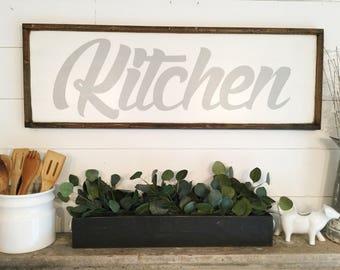 Kitchen Sign Kitchen Decor Farmhouse Kitchen Sign