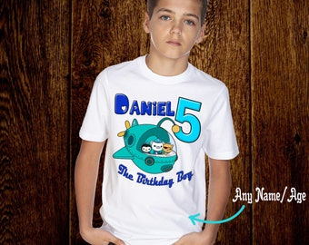 Octonauts Birthday Tee. Personalized Birthday T-Shirt. Personalized with Name and Age.  E014