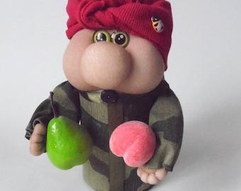 Baba Dusya leprechaun dwarf elf russian souvenir russian doll goblin cartoon hero home decor fairytale gift anniversary gift home amulet