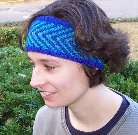 Knitting PATTERN Knit headband pattern Fair Isle headband