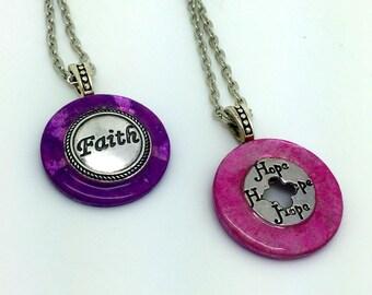 Washer pendant etsy faith hope pendant washer pendants inspirational pendants item 2071 aloadofball Images