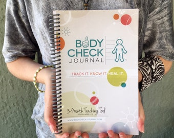 Body Check Journal - Kid's Medical Tracking Health Journal, chronic illness, food diary, diabetes, autism, down syndrome, symptoms, sleep