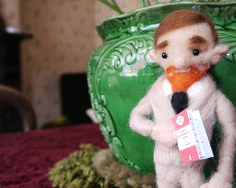 Handmade DH Lawrence needle felted ooak doll