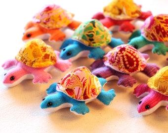 9  Mini turtles, Turtle miniature plush, Stuffed turtle, Turtle set, Stuffed animal
