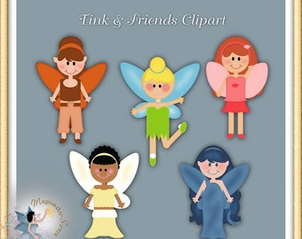 Fairies Clipart, Commercial Use