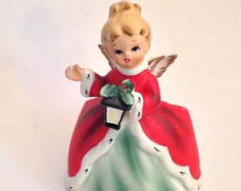 Vintage Napcoware Christmas Angel Planter Mid Century Christmas Decorations