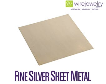 Fine Silver Sheet Metal, Dead Soft, 6 Inch Width, Various Gauges and Lengths
