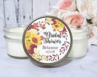 Bridal Shower Candle favors - Rustic Bridal Shower Favors - Fall Wedding Favors - Fall Bridal Shower - Rustic Candle Favors - Set of 12