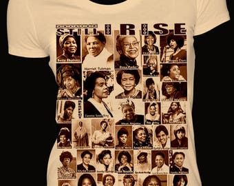 Black History Woman BH2560BD Ladies Fitted T-shirts. African American t-shirts