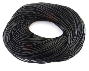 3 metre cocn2 Black 2 mm leather cord