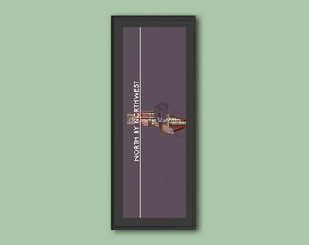 North by Northwest framed limited edition 12x4 inches print