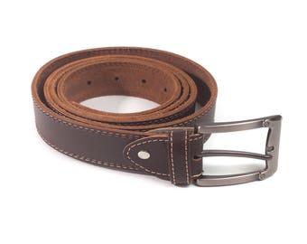 Cintura di cuoio fatto a mano italiano Lorenzo