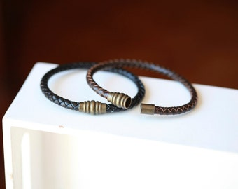 Mens leather Bracelet - Mens leather Bracelet