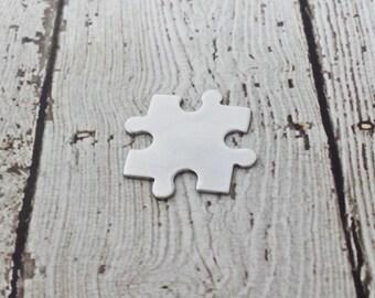 18 Gauge Aluminum Puzzle Blank - 3003 Aluminum - Interlocking Puzzle Piece