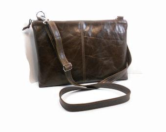 Brown Leather Crossbody Bag, Leather Shoulder Bag, Leather Handbag, Handmade Leather Purses, Cross Body Purse, Kamryn Bag, Made in USA