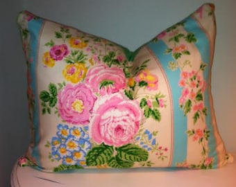 Shabby Chic Pillow Cover, Shabby Chic Rose Decor, Cottage Chic, Jennifer Paganelli Designer, Accent Cover