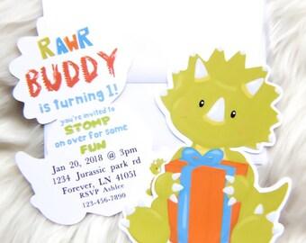 Dinosaur invitation - dinosaur invites - dino invites - dino invitation - dino dig invitation - dinosaur birthday - dinosaur party
