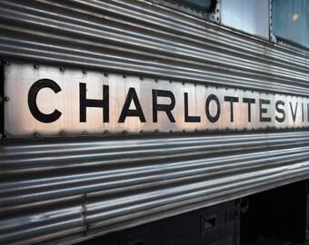 Charlottesville Train Photo, Industrial Wall Decor, Office Wall Art