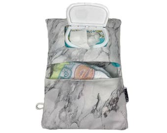 Marble Diaper Clutch by Rilos + MiMi- Ready to Ship- Machine Washable