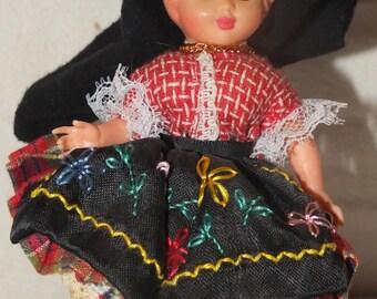 Vintage Milocas Portuguese Girl Doll Made in Portugal