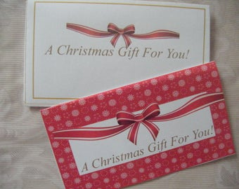 Instant Download Christmas Money Wallet Gift Card  Embellishments PDF
