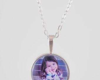 Custom Glass Photo Pendant