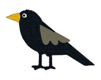 BUY 2, GET 1 FREE - Mini Crow Machine Embroidery Design in 3 Sizes - Fall, Autumn, Halloween, Thanksgiving