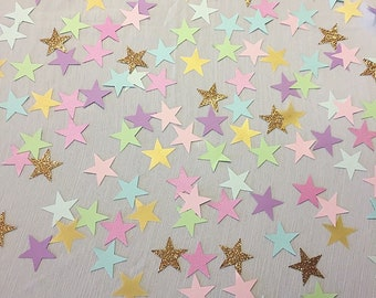 Die Cuts - Star Die Cuts - Birthday Confetti - Die Cut Paper Confetti - Unicorn Theme - Star Confetti - Star Theme Decor - Unicorn Birthday