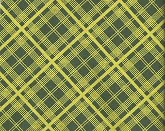 Denyse Schmidt Chicopee Simple Plaid in Lime - One Yard