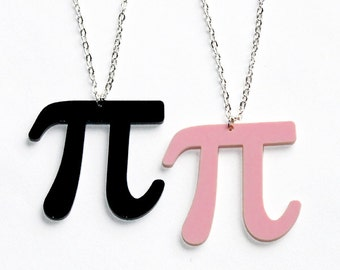 Pi Symbol Necklace 50+ Colours! // Math Teacher Gift // Physics // Geeky
