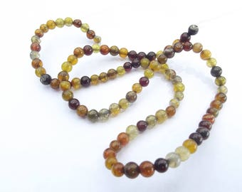 colored 4 mm LAO-511 dragon vein agate 92 beads