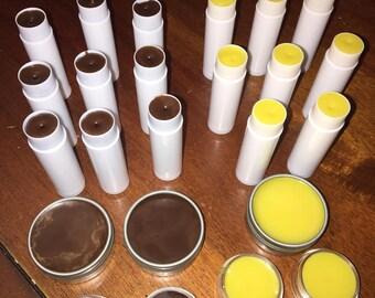 All Natural Lip Balm / Organic Made Lip Balm / Lip Balm / Beeswax Lip Balm