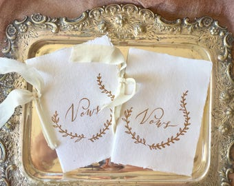 Wedding Vow Booklet, Vow Booklet