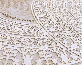 Papercut Ketubah: Grace II (Personalized) - I am my beloved's and my beloved is mine