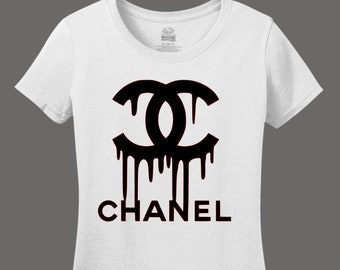 Chanel Fashion T-Shirt // Women's Chanel Logo Shirt // Chanel Shirt