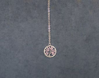 Pink Tree of Life Necklace