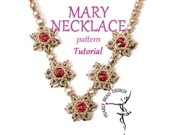 Mary Bracelet and necklace pattern tutorial with pinch beads