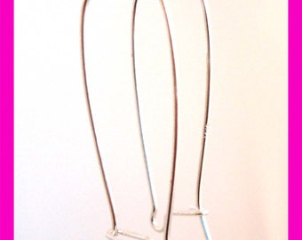 10pcs Large  interchangeable Sterling Silver Kidney Earring Wire Earwire ear wire e61