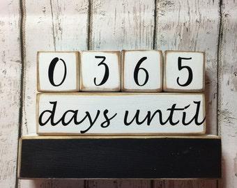 "Countdown. Wedding Countdown Blocks. Countdown Until ""I Do"". Custom Blocks. Countdown Blocks. Chalkboard Blocks."