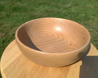 Hand Turned Wooden Bowl, 8.5 Inch Maple
