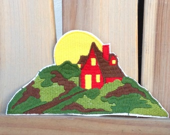 Vintage Farm House and Sunrise Patch - Made in the 70's and New