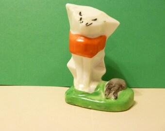Cat & Mouse Airplant Vase, Vintage