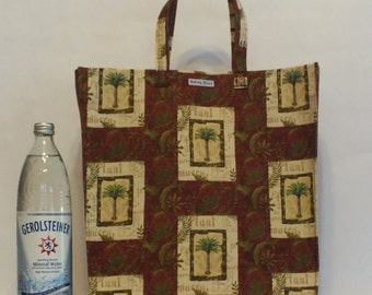 One of a Kind Market Line Bag in print VINTAGE PALM