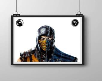 Mortal Kombat Scorpion/Sub Zero - A4 Matte Print
