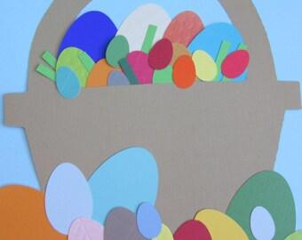 Easter Egg Basket Papercraft