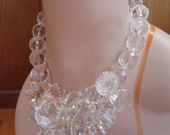 Handmade Chunky Statement Necklace  Ice Storm Necklace