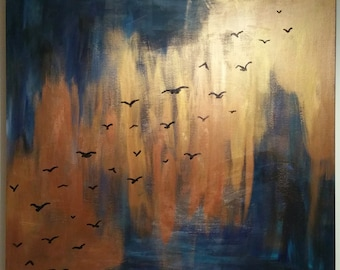 Painting: Birds in flight