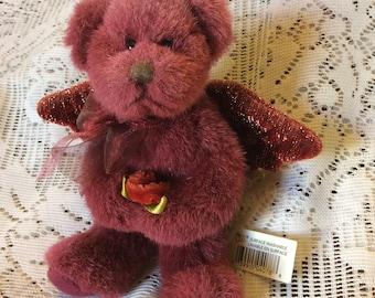 Vintage Russ Berries plum colored anflgel wings bear