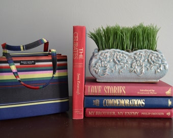 BOOK BUNDLE Set of Four Books Red Burgandy Navy Stack