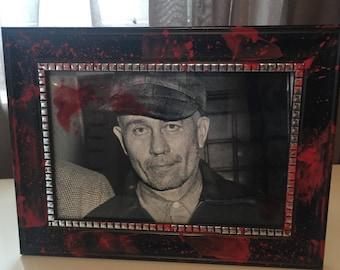 Ed Gein Blood Splatter Frame
